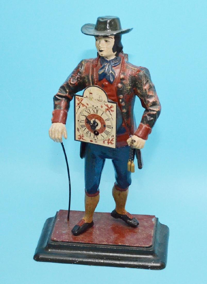 "Large Metal Austrian Figure "" The Clock Peddler ( JVC)"