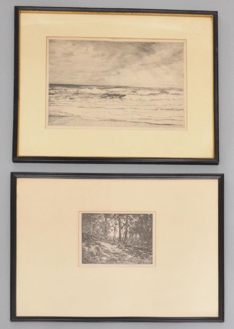 2 Impressive Etchings Signed Robert Nesbit