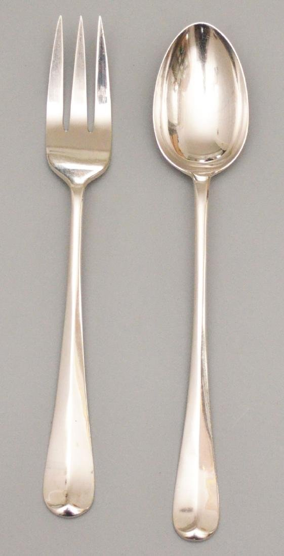 Vintage English Heavy Sterling Serving Fork & Spoon
