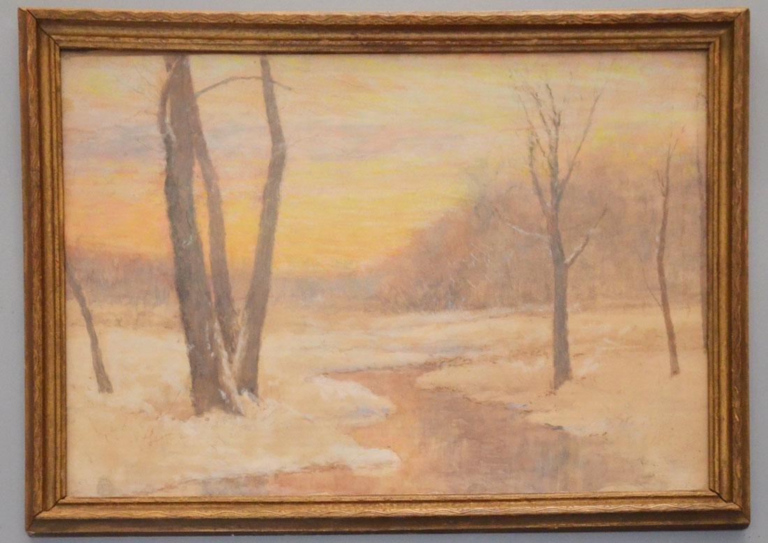 Winter Scene Watercolor By Daniel Wentworth