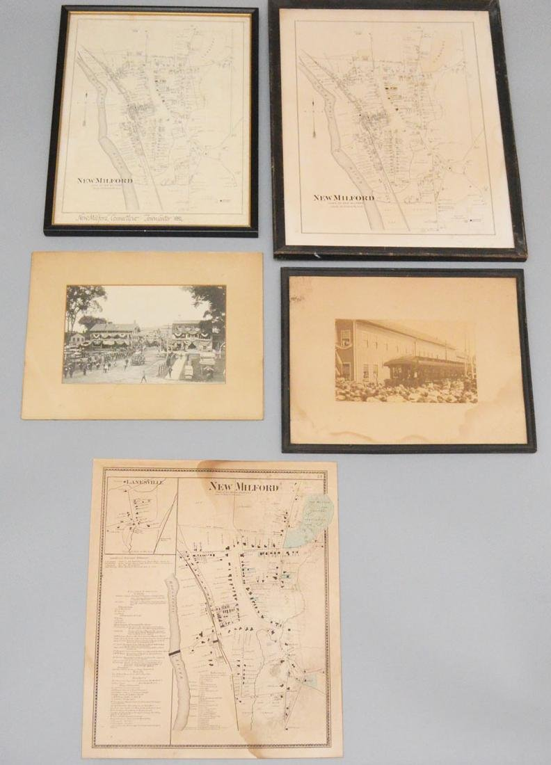 Vintage New Milford Lot ( Old Photos & Maps )