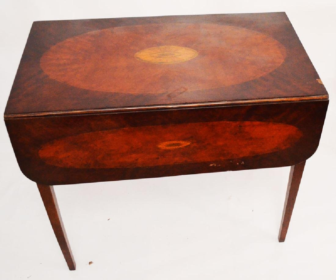 Inlaid Pembroke Drop Leaf Table
