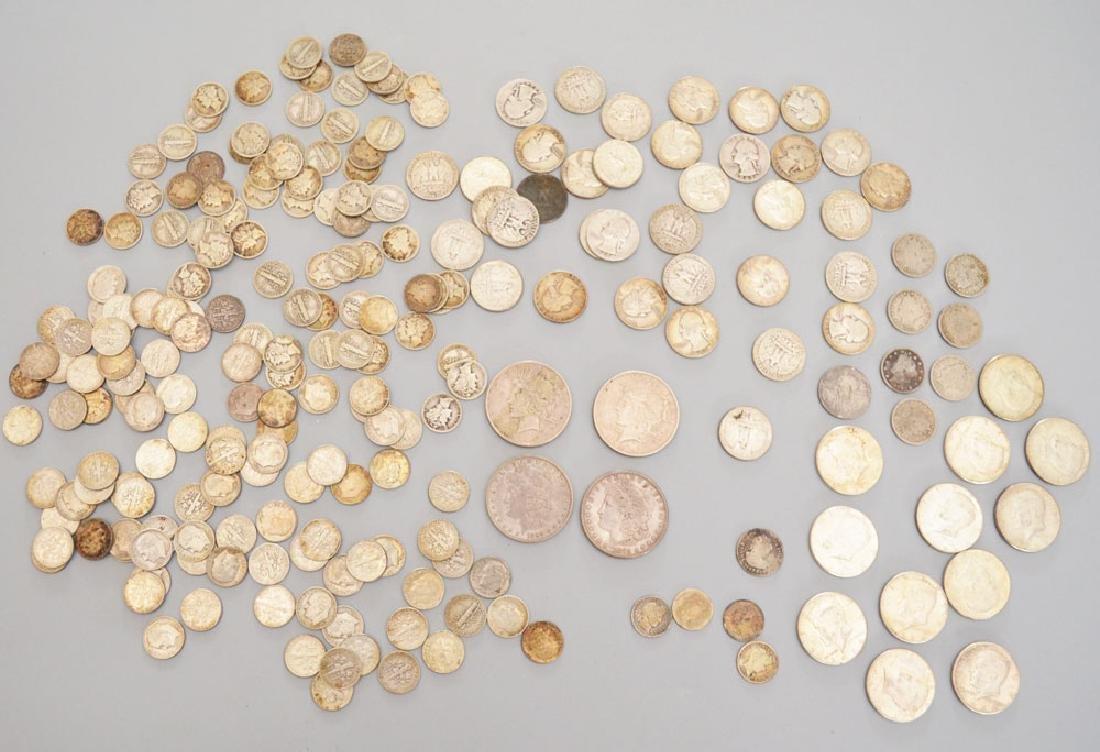 Lot Of Older Silver Dollars, Quarters , Dimes
