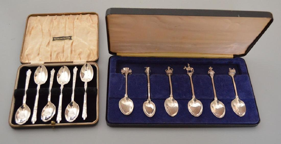 2 Boxed Sets Of Sterling Silver Spoons ( Viner )