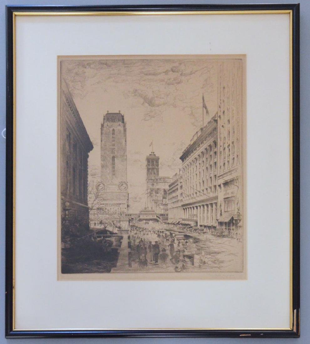 John Taylor Arms WEST FORTY-SECOND STREET Etching