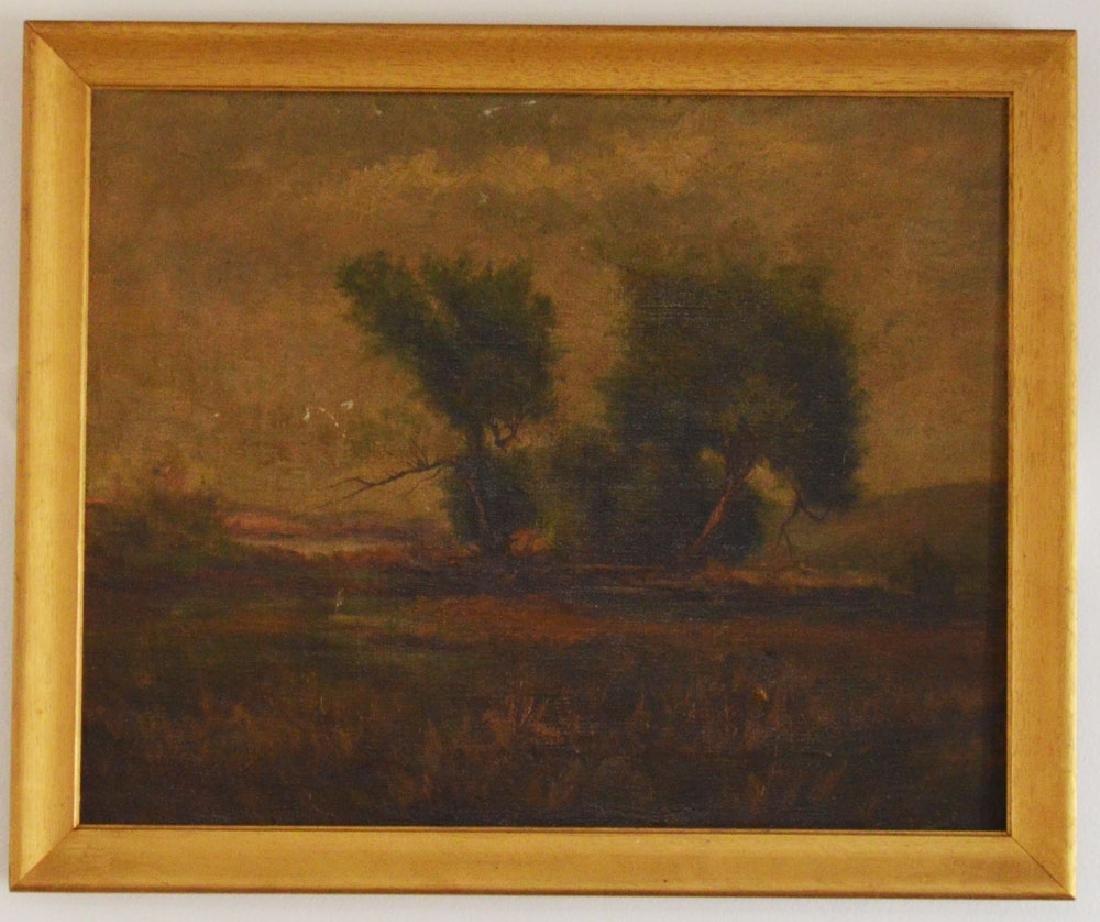O/C Painting Of A Forrest Landscape Attr. J.H.Child