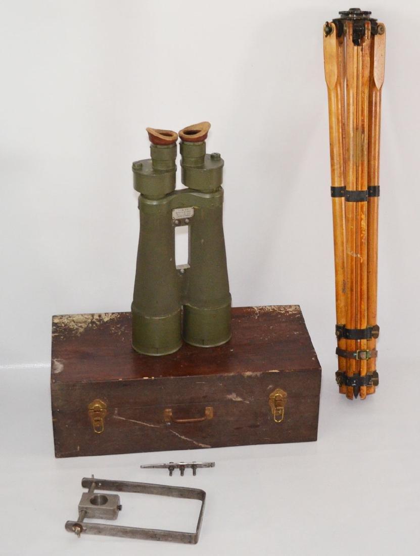 World War II Japanese Navy Big Eye Binoculars In Case