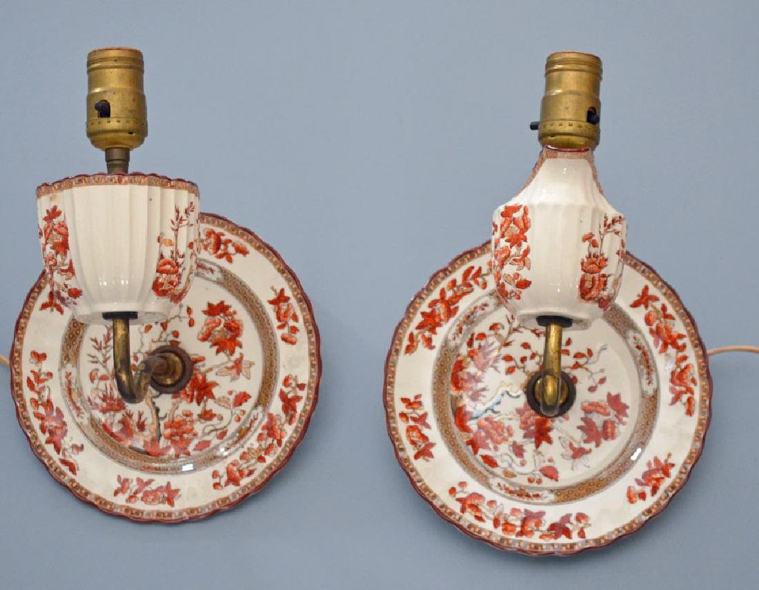 Whimsical Antique Spode Cup & Saucer Sconces