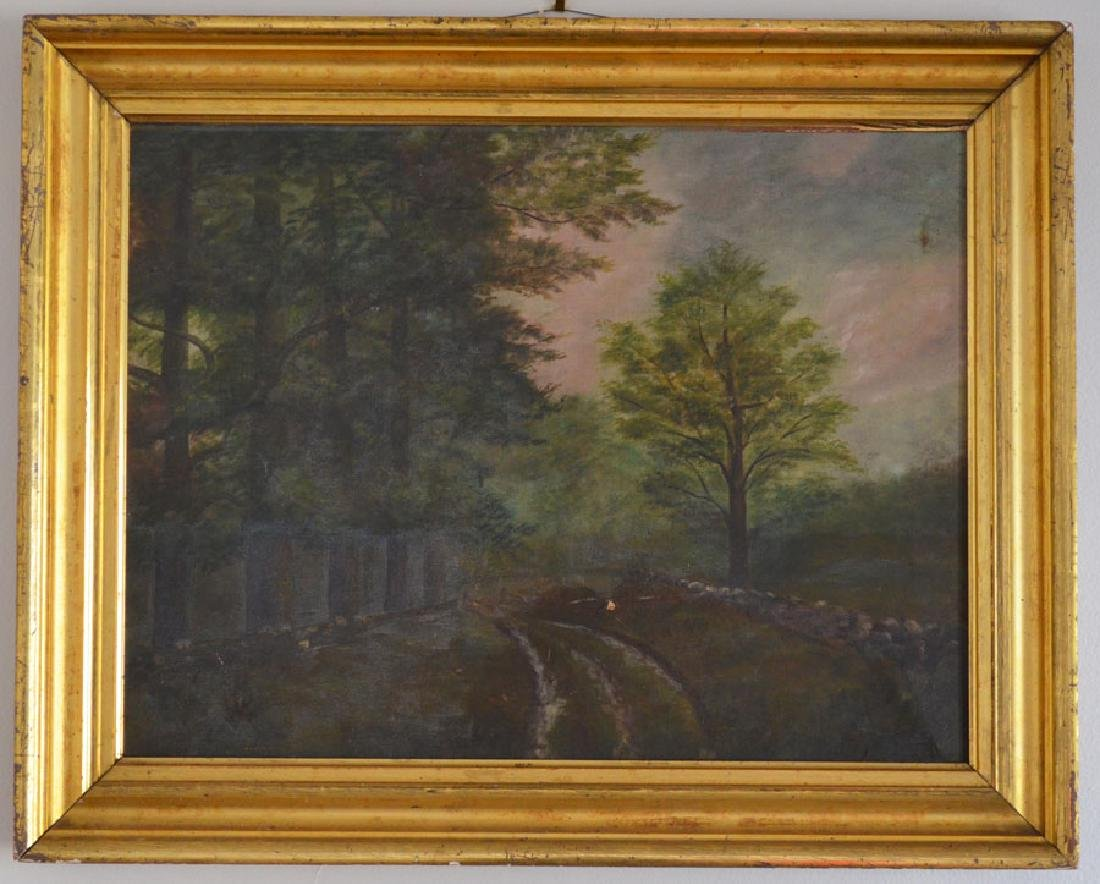 Well Executed O/C Painting Of A Forest Scene