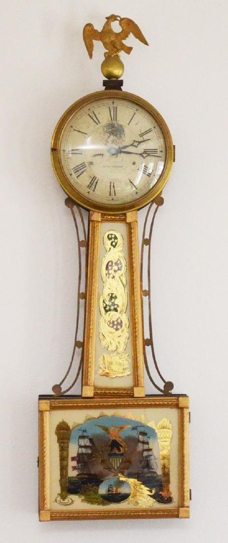 Seth Thomas  Reverse Painted Banjo Clock