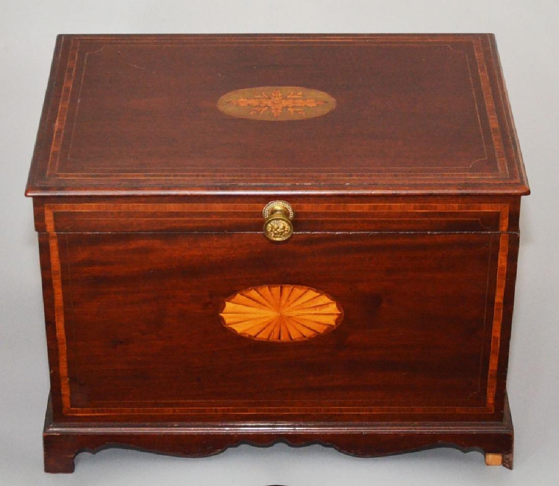 Stunning Antique Inlaid Mahogany Cellarette