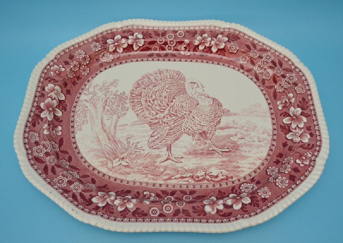Monumental  Spode Porcelain Turkey Platter