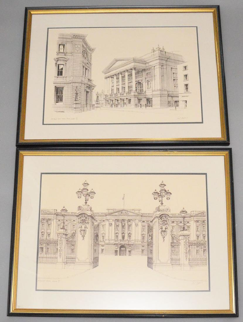 5 Architectural London Lithos Signed Paul Draper