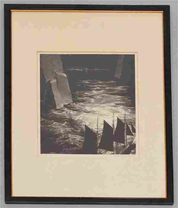Stow Wengenroth Signed Eastport Maine Lithograph