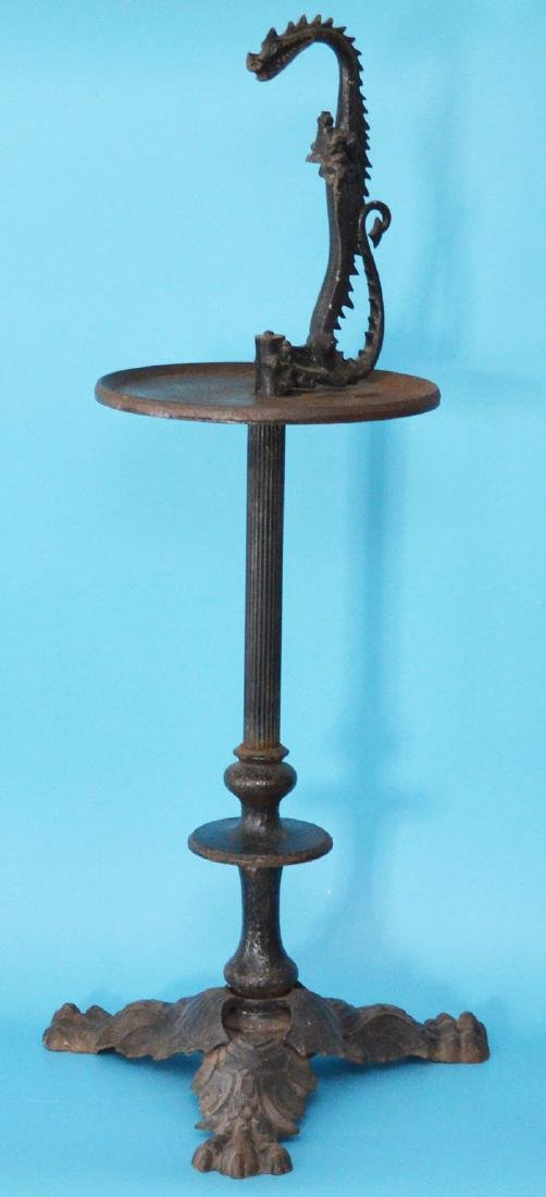 The Coolest Antique Cast Iron Stand With Dragon