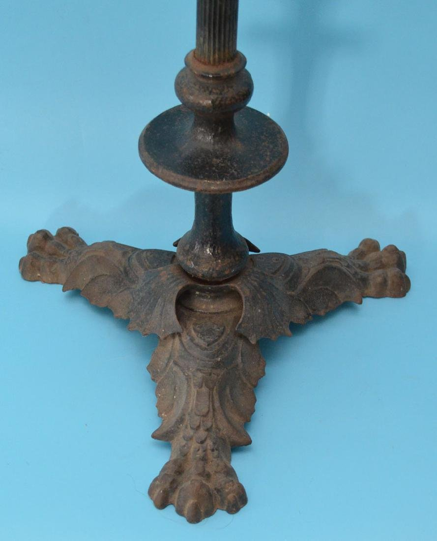 The Coolest Antique Cast Iron Stand With Dragon - 2