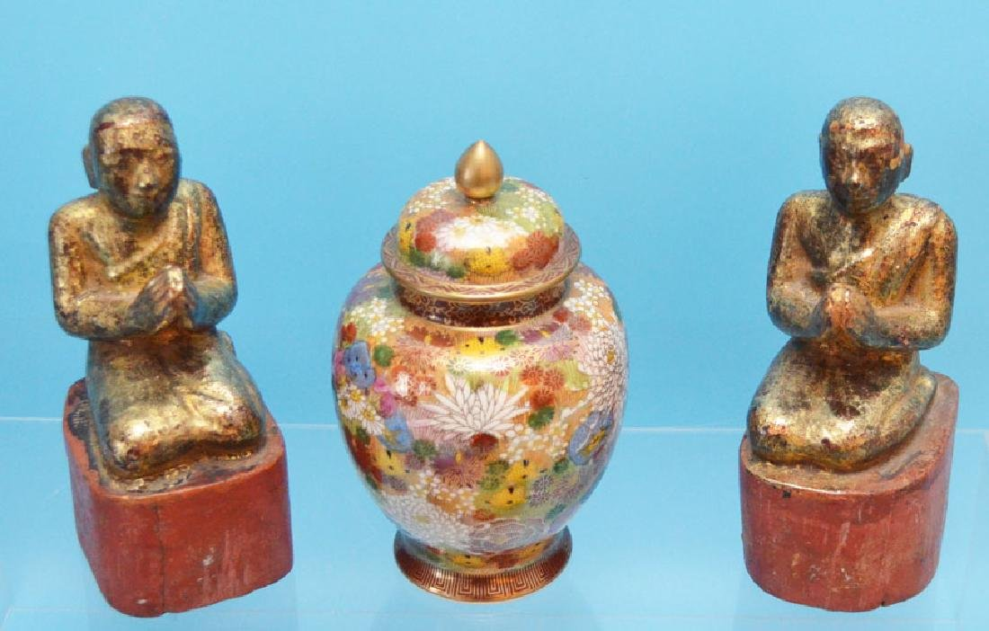Collection of Chinese Items (Wood Carvings, Porcelain) - 2