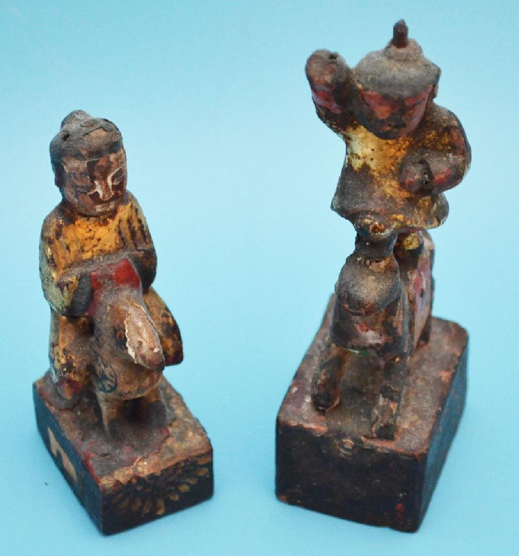 Collection of Chinese Items (Wood Carvings, Porcelain) - 3