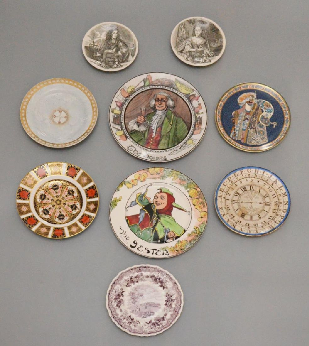 Lot of China Plates (Doulton, Derby, Wedgwood)