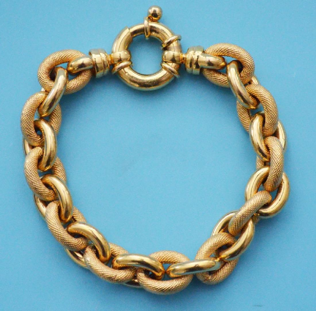 Unusual 14k Gold Italian Bracelet