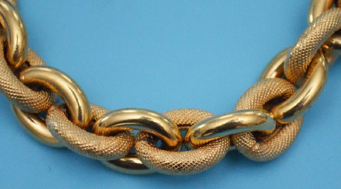 Unusual 14k Gold Italian Bracelet - 2