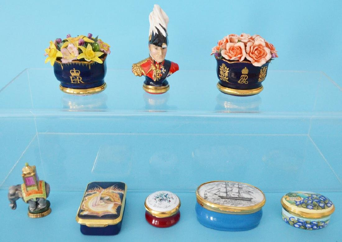 Collection of Halcyon Days Boxes (Queen Elizabeth II)