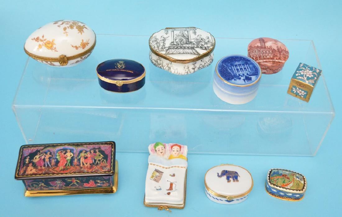Lot of Enamel & Limoges Porcelain Boxes