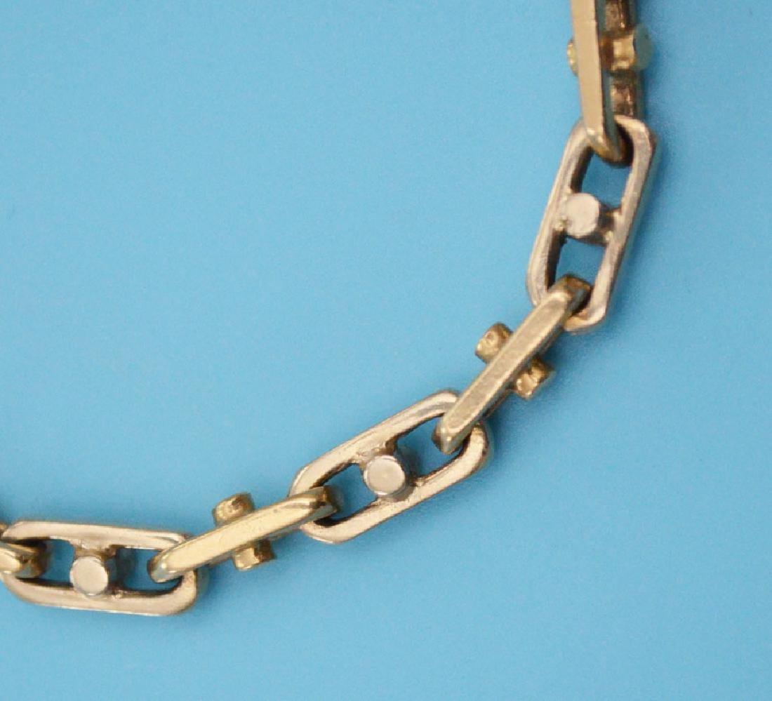 Two Tone 14k Gold Vintage Link Bracelet - 2
