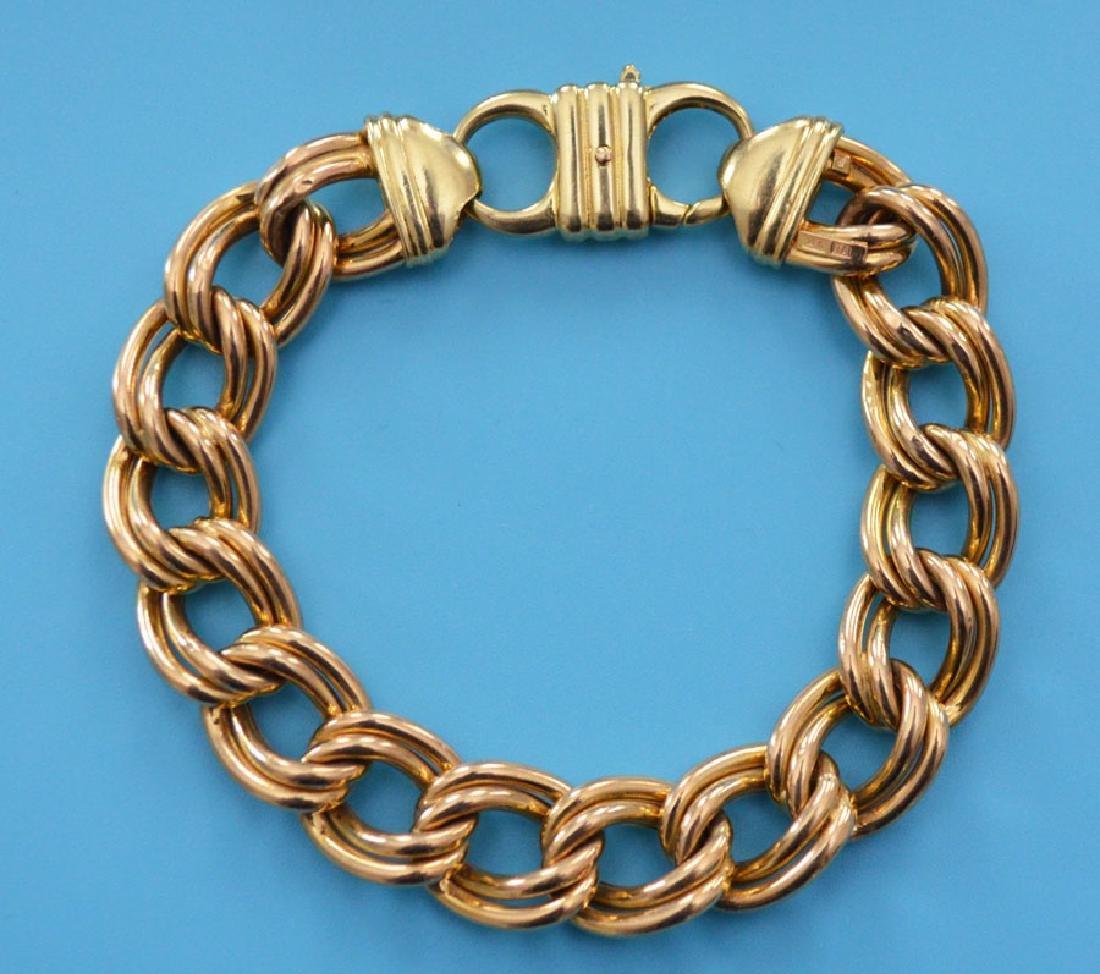 Stunning Italian 14k Gold Bracelet