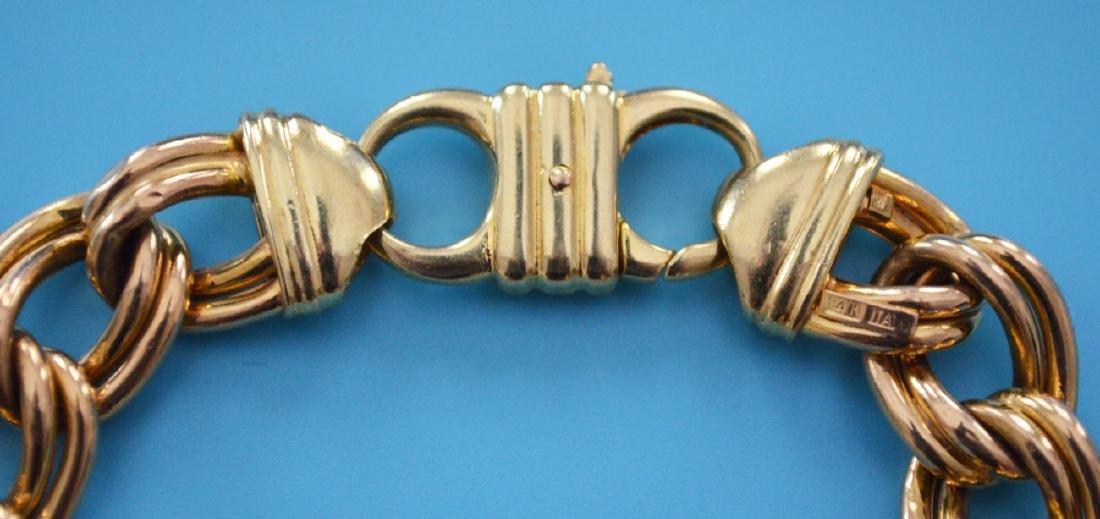 Stunning Italian 14k Gold Bracelet - 2