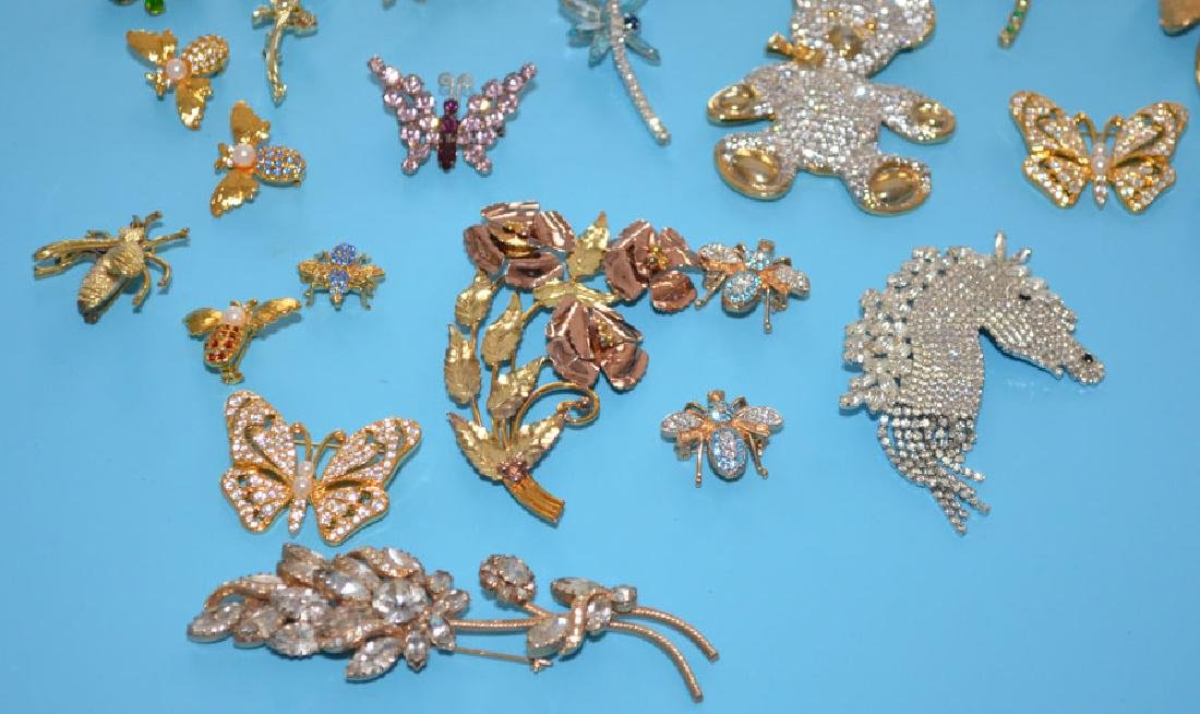 Lot of Vintage Rhinestone Jewelry - 2