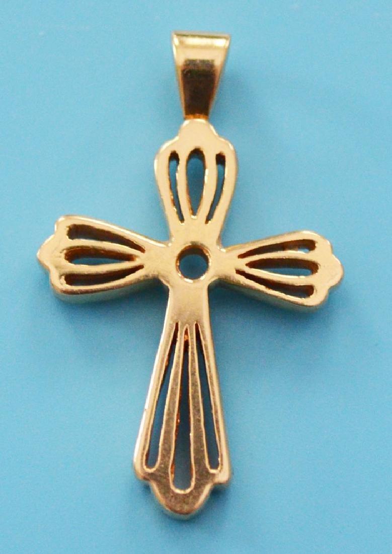 Interesting 14k Gold Cross