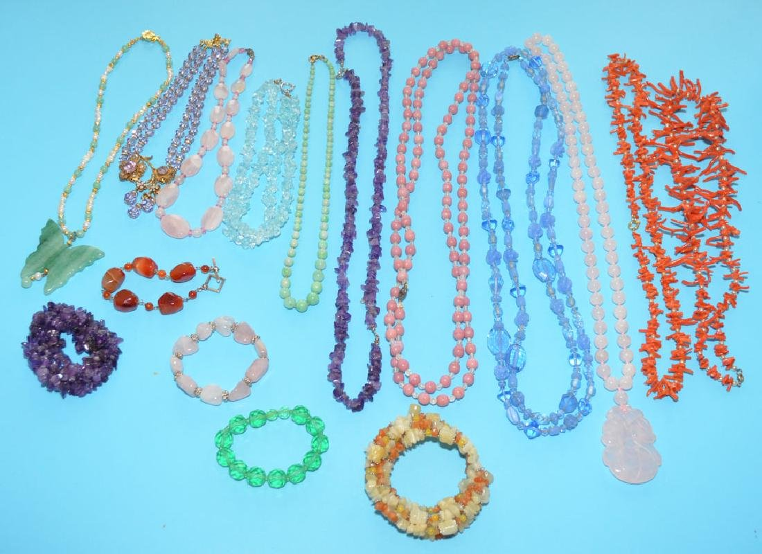 Lot of Stone Jewelry Necklaces