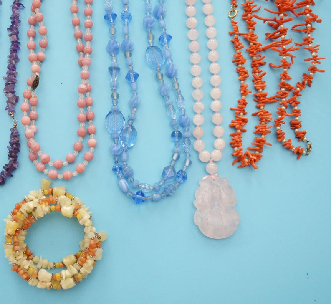 Lot of Stone Jewelry Necklaces - 3