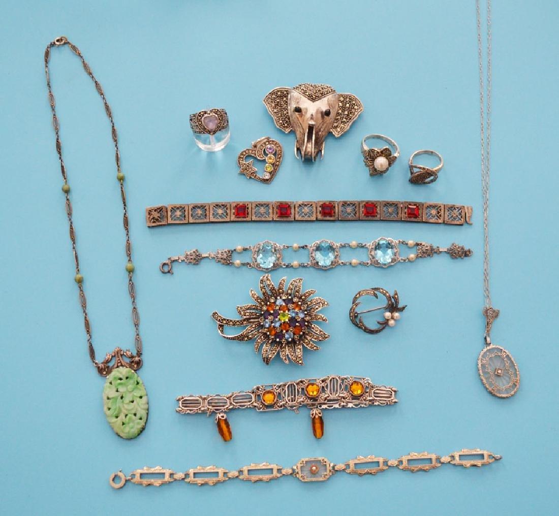 Nice Lot Of Filigree & Marcasite Jewelry