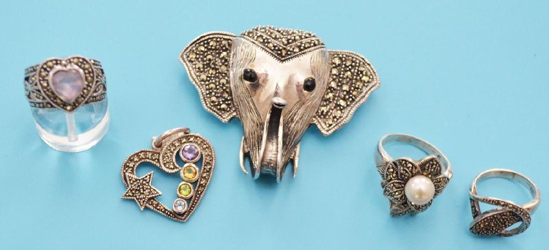 Nice Lot Of Filigree & Marcasite Jewelry - 3