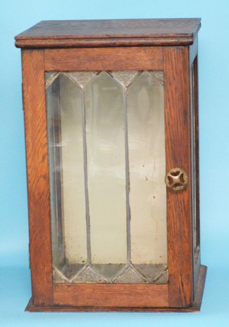 Pair of Tabletop Cupboards with Leaded Glass - 3