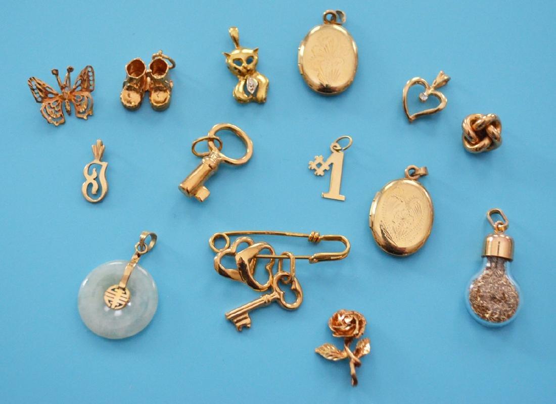 Generous Lot Of unusual14k Gold  Charms & Pendants