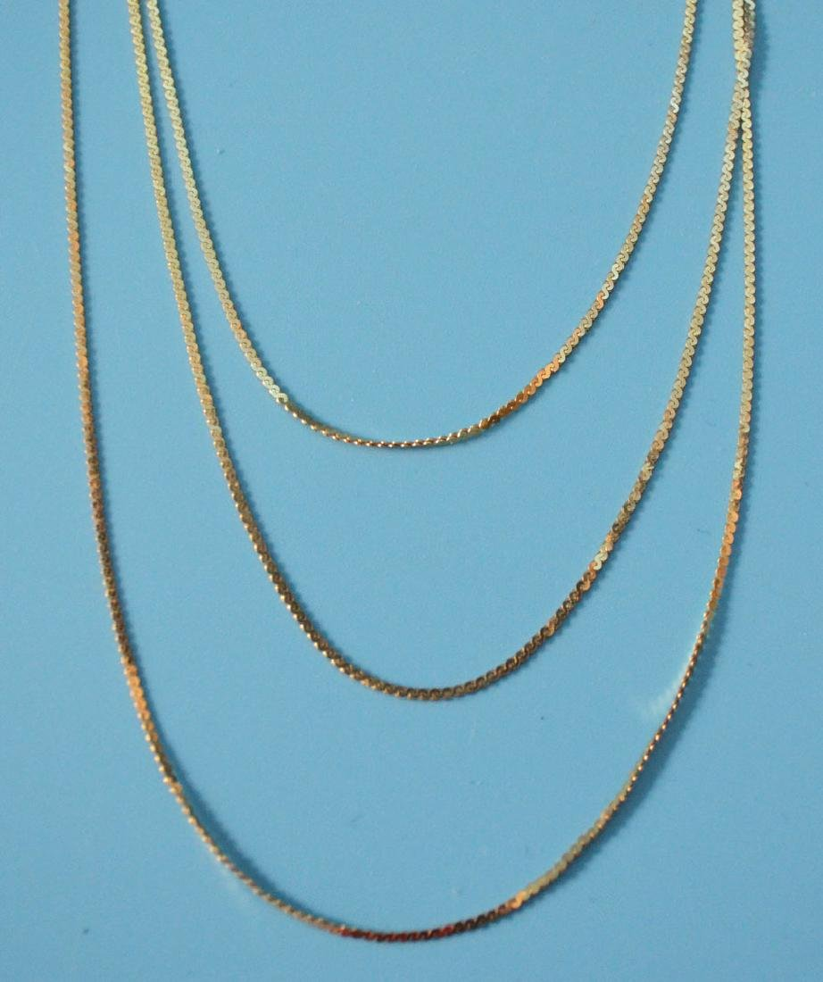 Lo of 14k Gold Jewelry (Necklaces & Bracelets) - 3