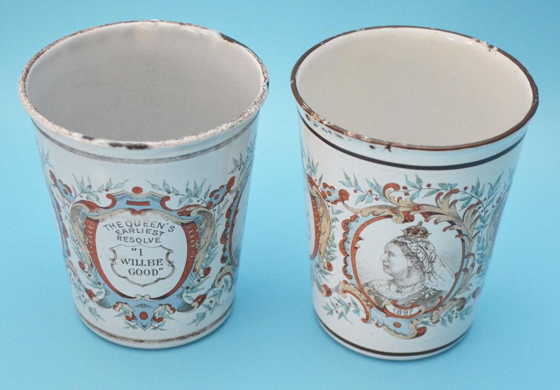 5 Royal  Enamel  Beakers ( Halcyon Days ) - 3