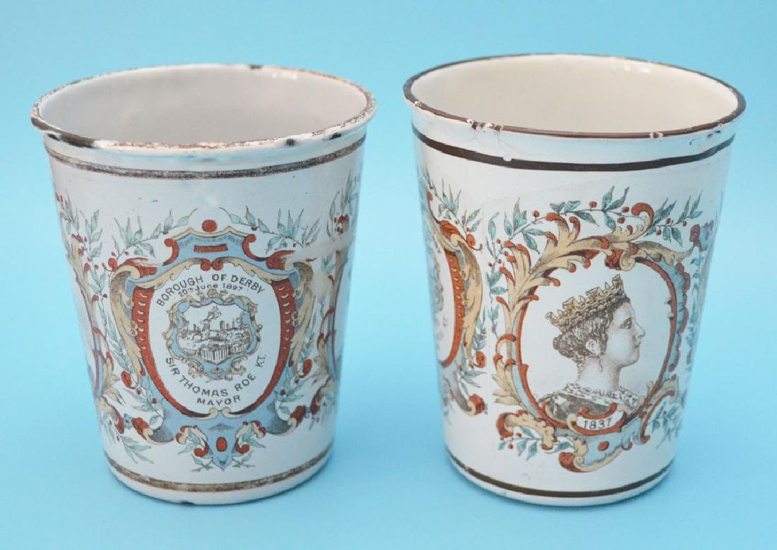 5 Royal  Enamel  Beakers ( Halcyon Days ) - 4