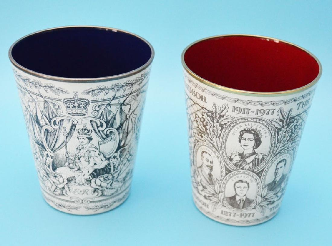 5 Royal  Enamel  Beakers ( Halcyon Days ) - 5