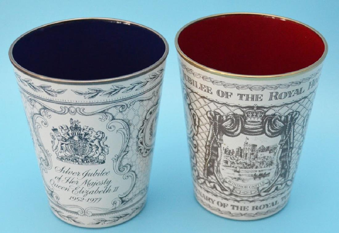 5 Royal  Enamel  Beakers ( Halcyon Days ) - 6