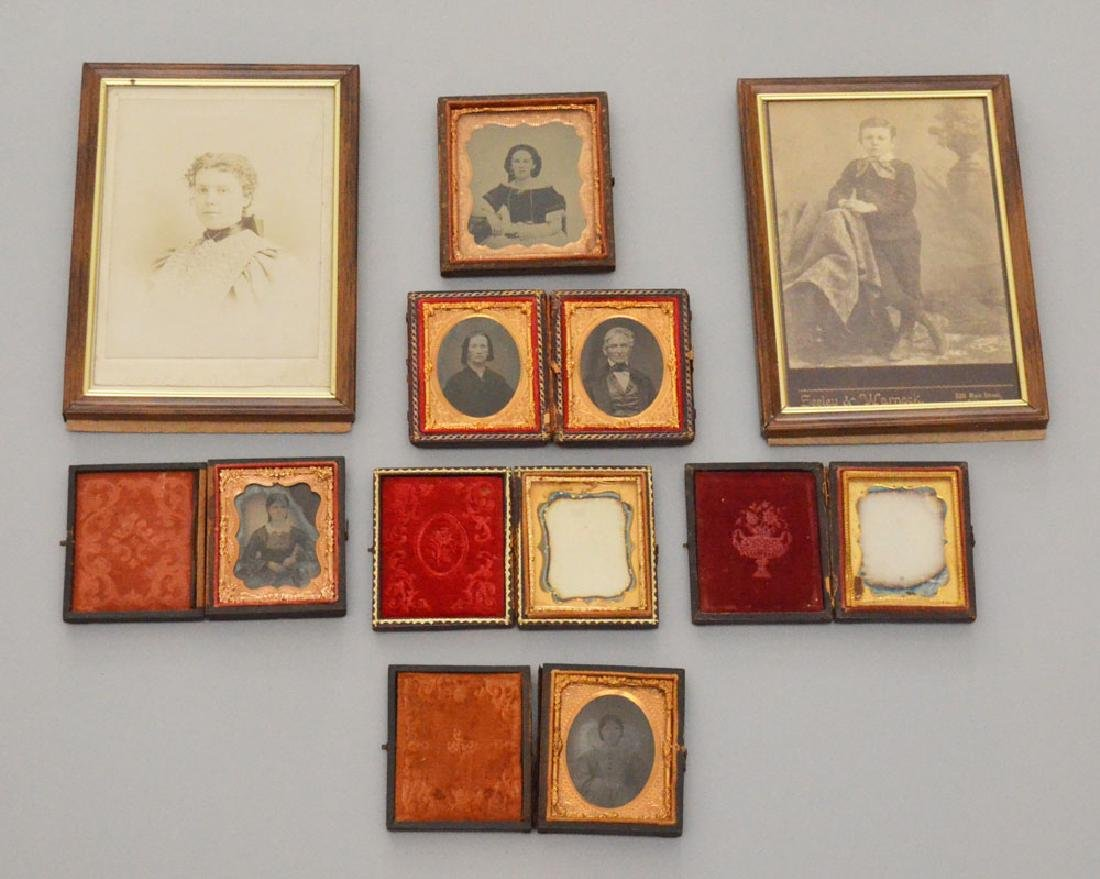 Lot Of Antique Tintypes & Cabinet Photos