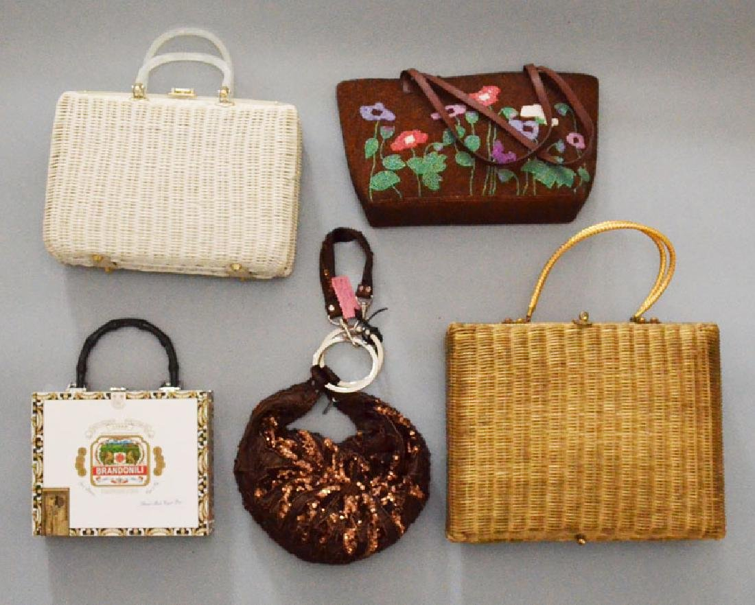 Lot of 15 Fun Vintage Evening Bags & Purses - 5