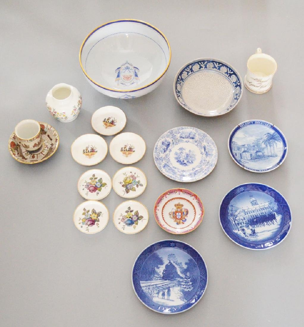 Lot of China (Spode, Dedham, Copenhagen