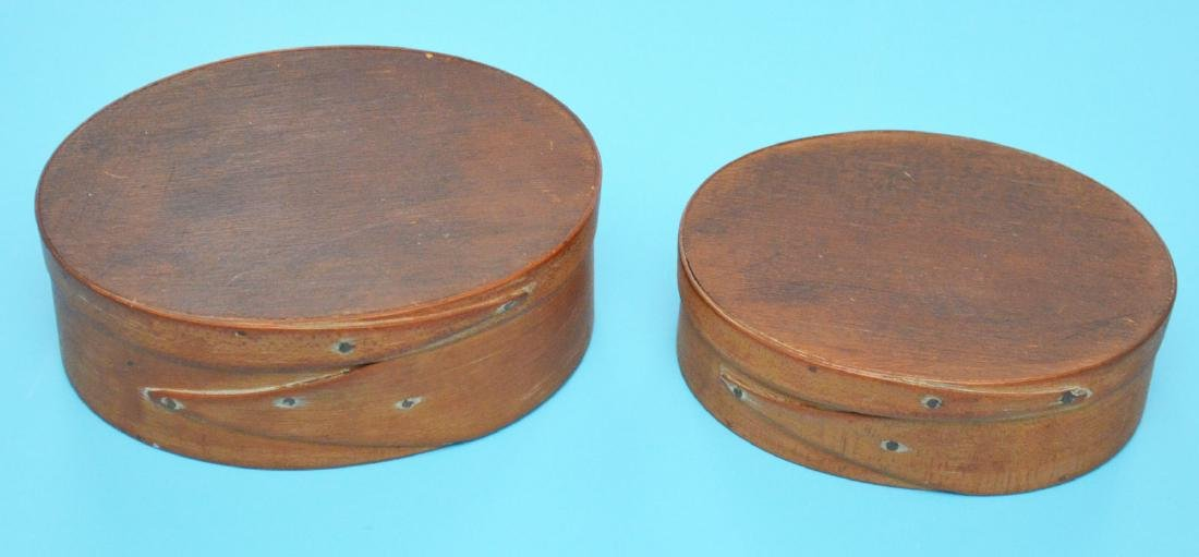 Attic Find Of 2 Antique Shaker Wood Boxes