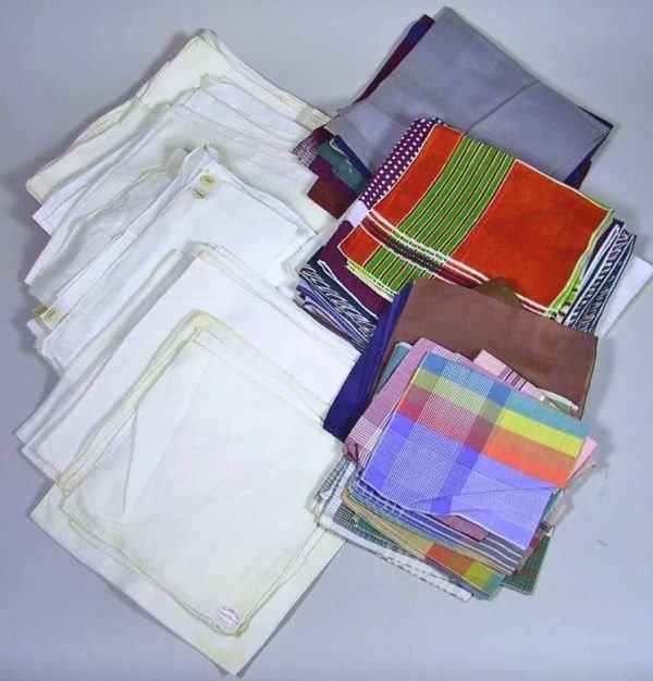 102: 81 Vintage Mens Handkerchiefs And Pocket Squares