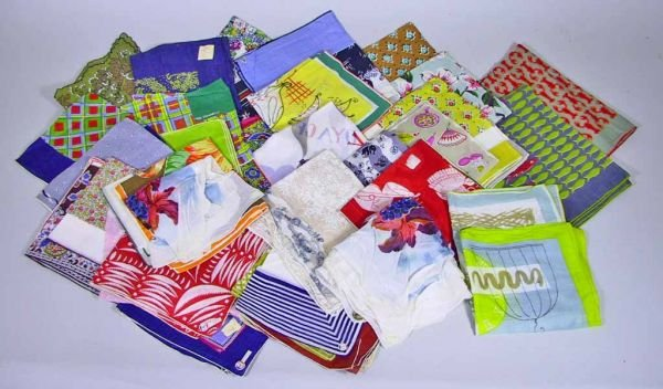 107: 53 Vintage Handkerchiefs Tammis, Keefe and others