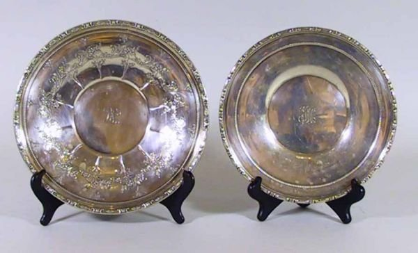 113: Gorham / Towle Repousse Sterling Silver Chargers